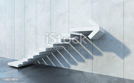 182237699 istock photo stairs going  upward, 3d rendering 1195570975