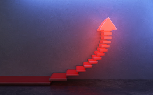1062884120 istock photo stairs going  upward, 3d rendering 1214922678