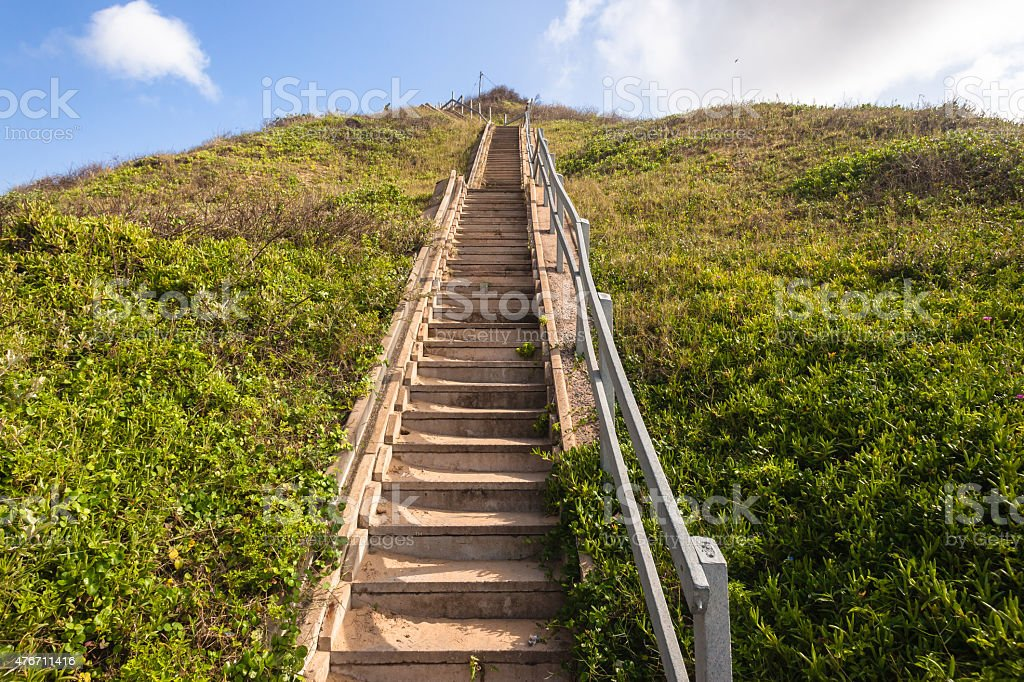 Stairs Hillside stock photo