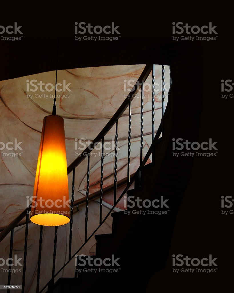 stairs in a restaurant stock photo