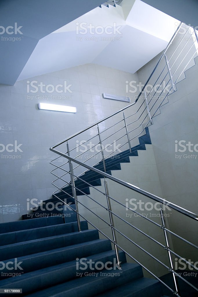 stairs in business building royalty-free stock photo