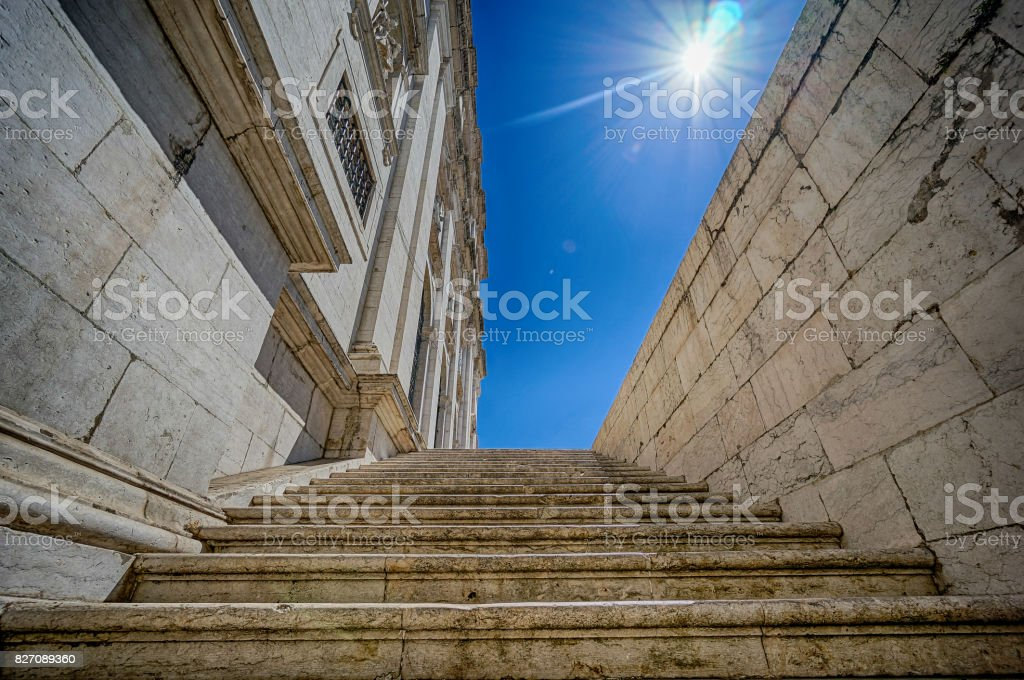 stairs in Lisbon stock photo