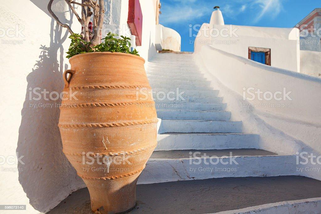 Stairs in Oia, Santorini royalty-free stock photo