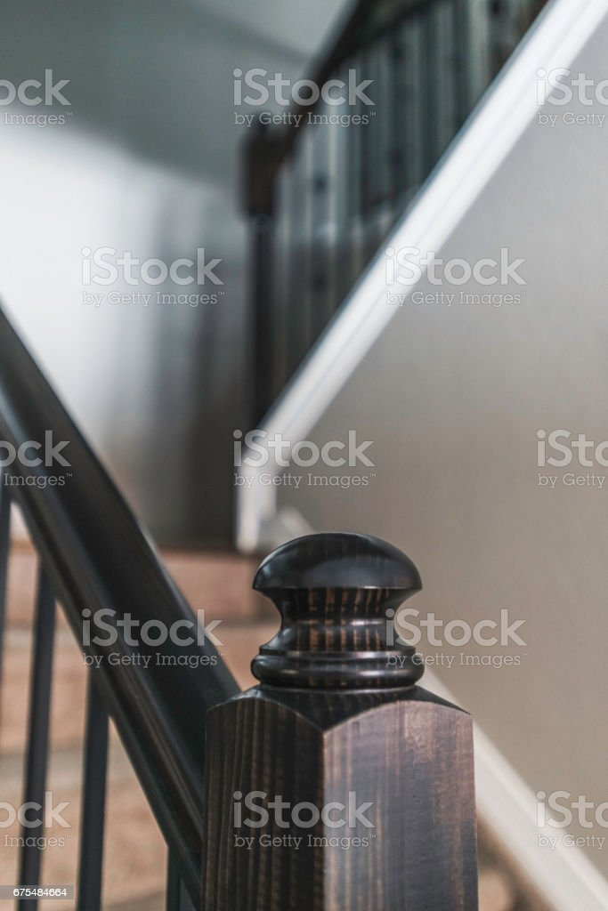 Stairs in residential home stock photo