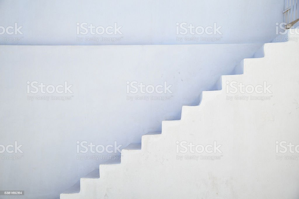 Stairs in Santorini, Greece stock photo