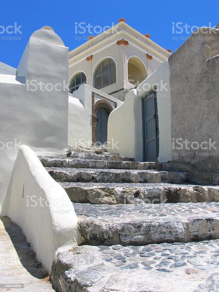 Stairs in Santorini royalty-free stock photo