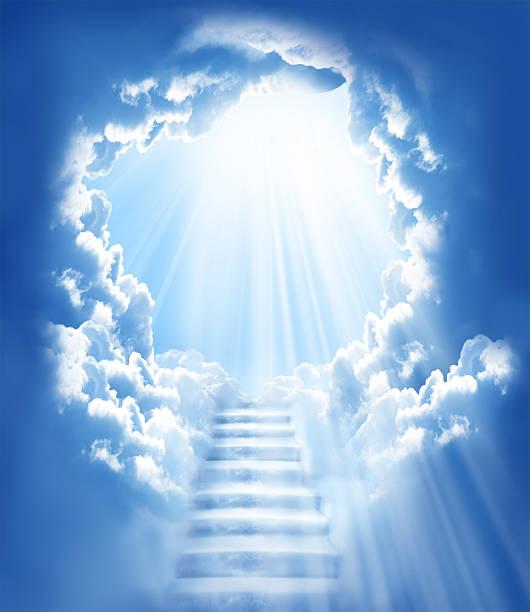 treppe in den himmel - paradies stock-fotos und bilder
