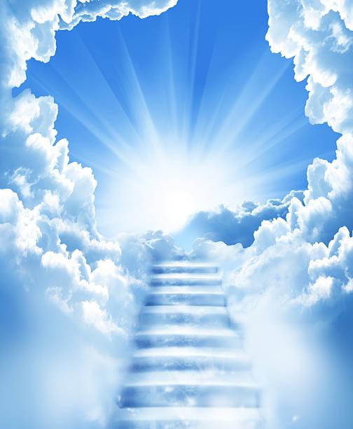 stairs in sky - cennet stok fotoğraflar ve resimler