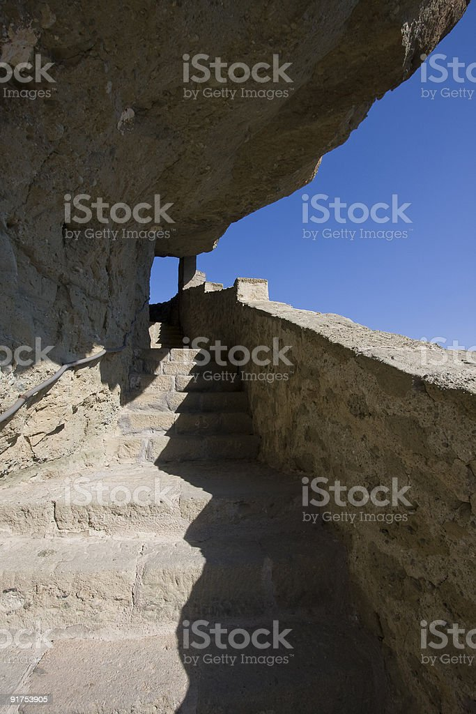 Stairs in the Cliff royalty-free stock photo