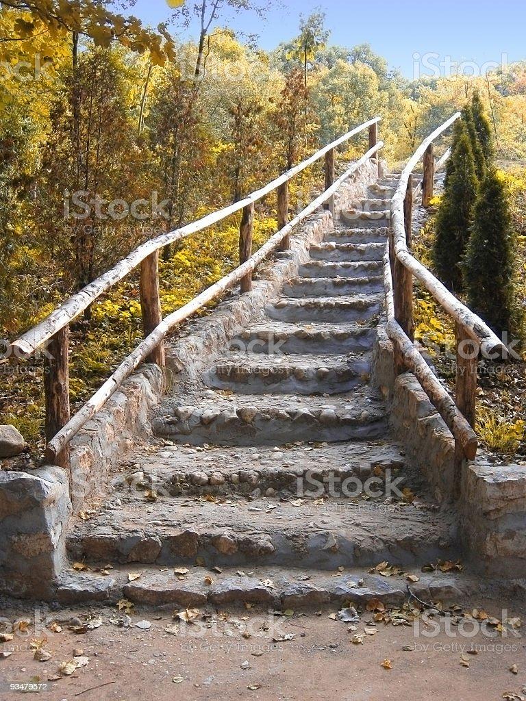 계단 가을 - 로열티 프리 0명 스톡 사진