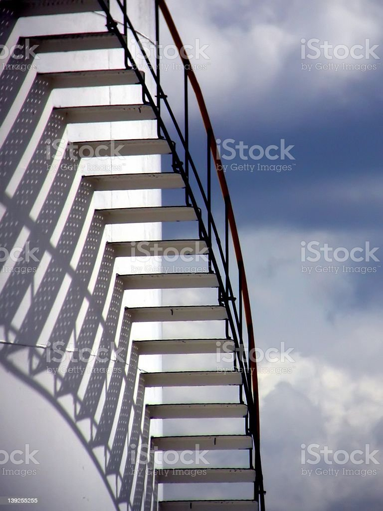 Stairs in the sky royalty-free stock photo