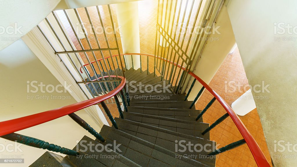 Stairs in Wat Tham Sua or Tiger cave temple photo libre de droits