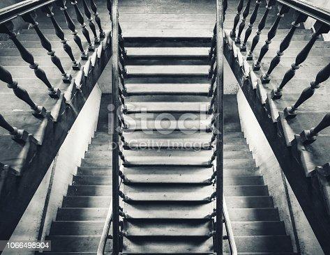 istock Stairs interior Architecture details wooden floor Building 1066498904