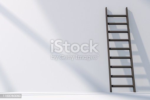 3d rendering, Steps, Stairs, Success, Ladder, Achievement, gray color color. Minimal concept.