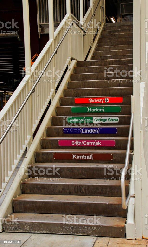 Escada que leva ao elevado