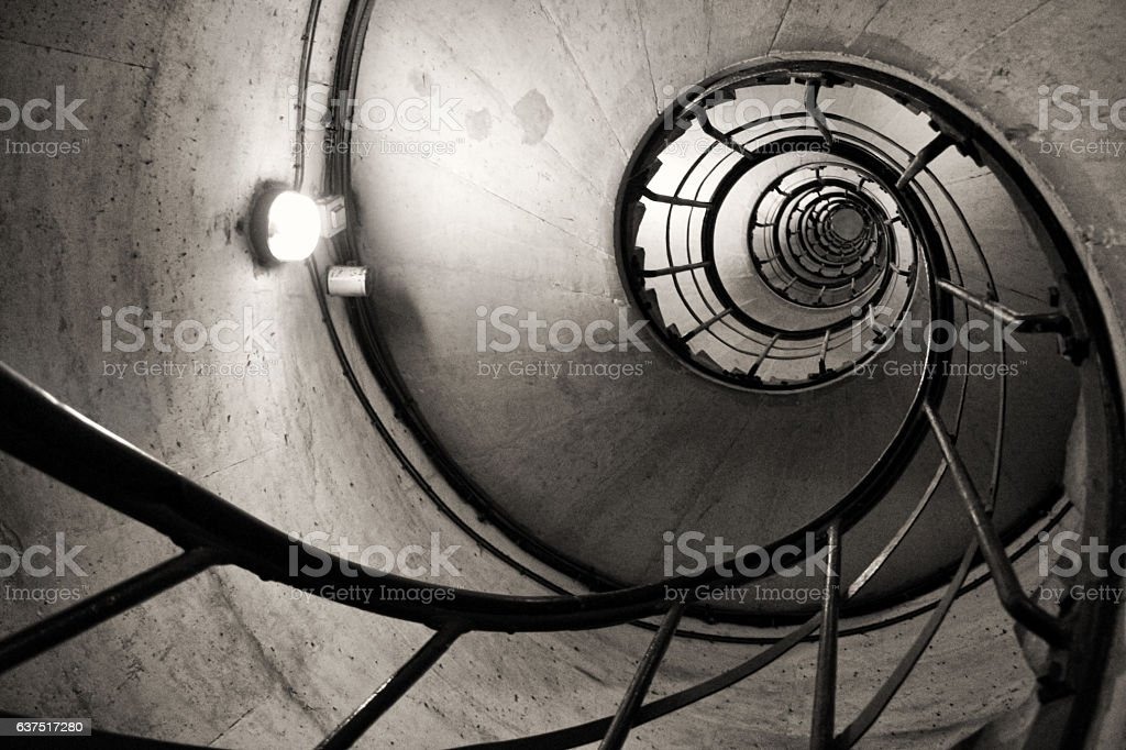 stairs like a spiral stock photo