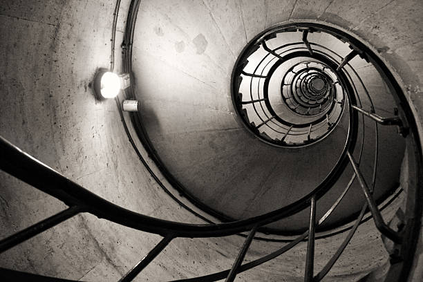 stairs like a spiral - golden ratio стоковые фото и изображения