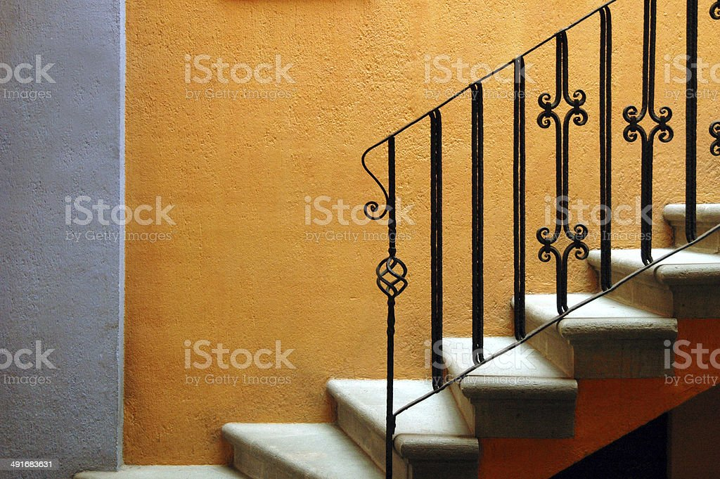 Stairs, Mexican style stock photo