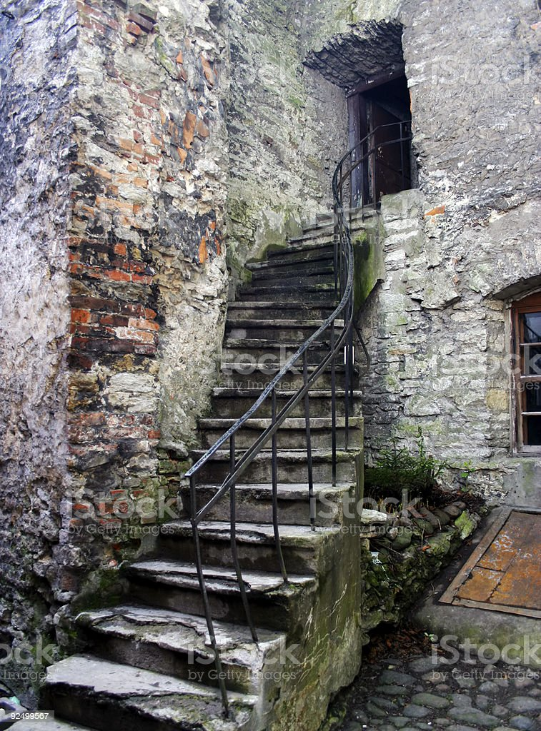 Stairs, Monastery royalty-free stock photo