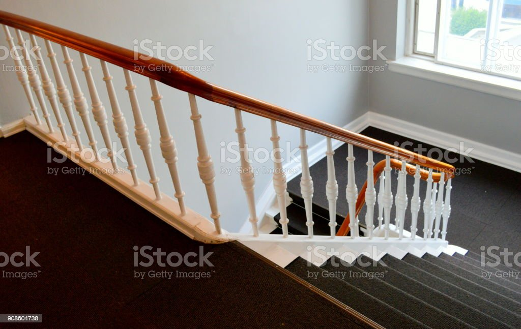 Stairs of a 350 year-old European mansion stock photo