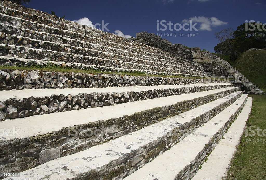 Stairs of Maya Temple royalty-free stock photo