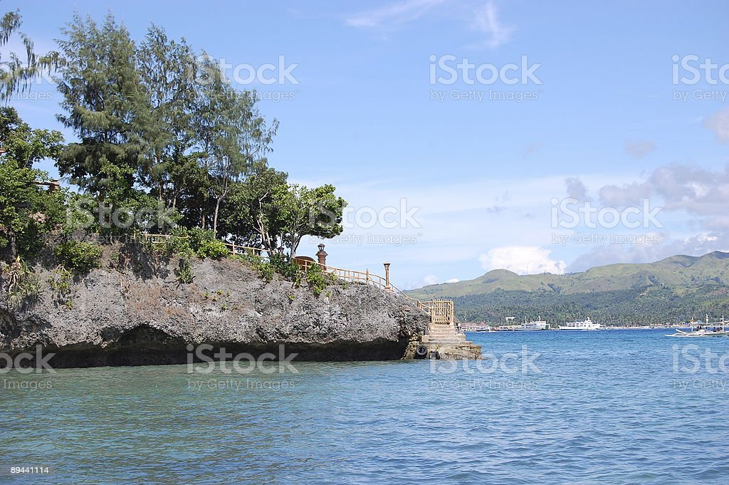 stairs on a cliff royalty free stockfoto