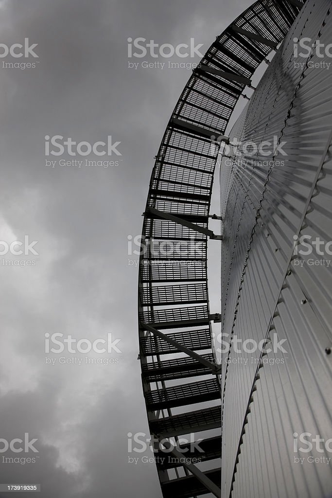 Stairs on a Storage Tank stock photo