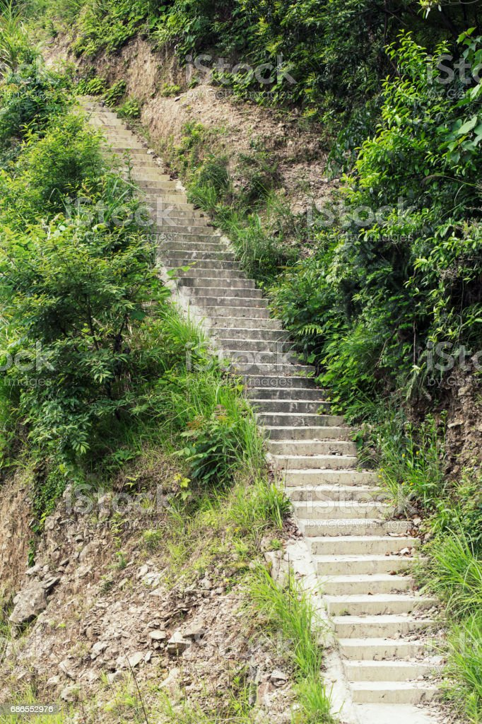 Stairs on mountain photo libre de droits