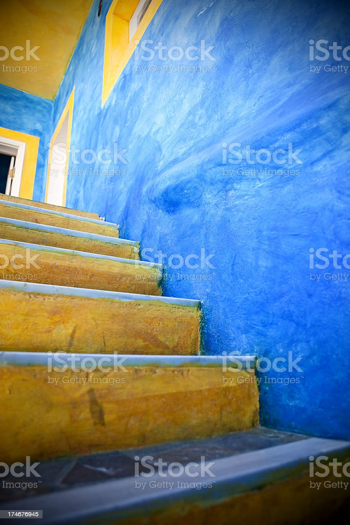 Stairs on Santorini royalty-free stock photo