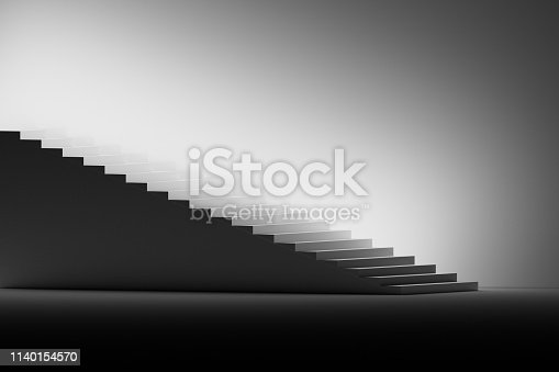 1154986671 istock photo Stairs on the left side 1140154570