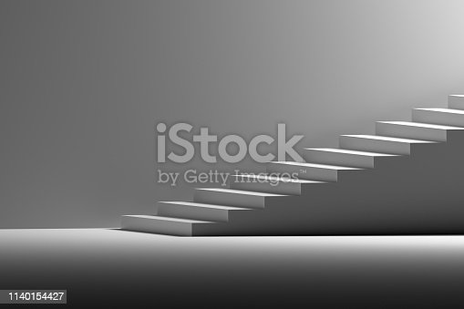 1154986671 istock photo Stairs on the right side 1140154427