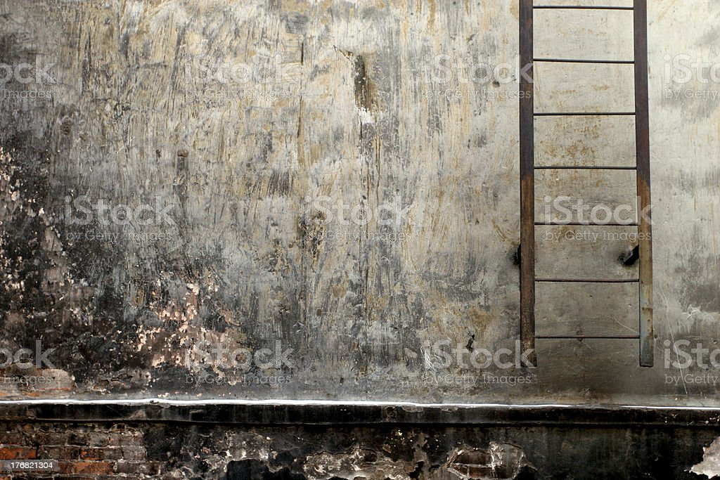 Stairs on the wall. stock photo
