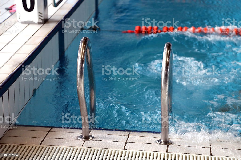 stairs to exit from the olympic swimming pool royalty free stock photo - Olympic Swimming Pool Lanes