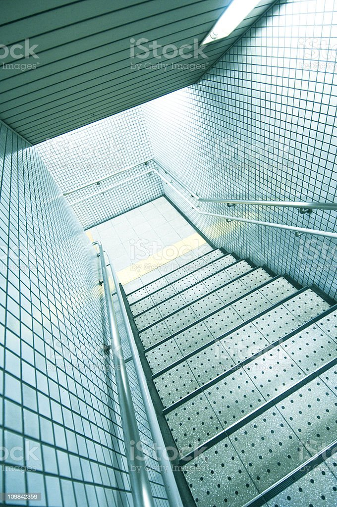 Stairs to subway royalty-free stock photo
