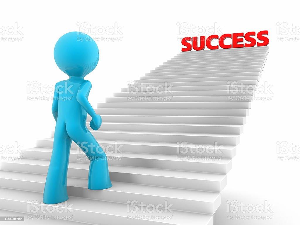 Escalera del éxito - foto de stock