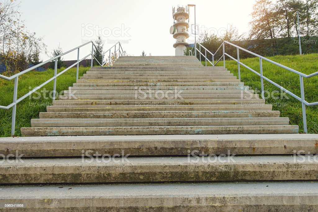 Stairs to telecomunication tower royalty-free stock photo