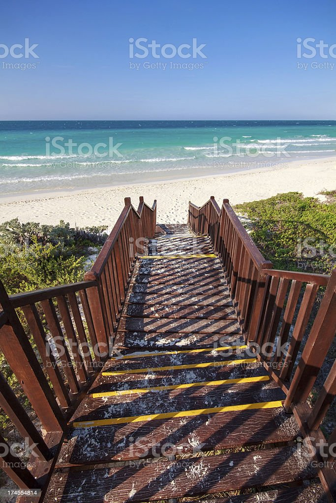 Stairs to the Beach royalty-free stock photo