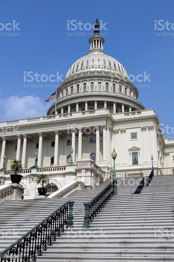 stairs to the Capitol royalty-free stock photo