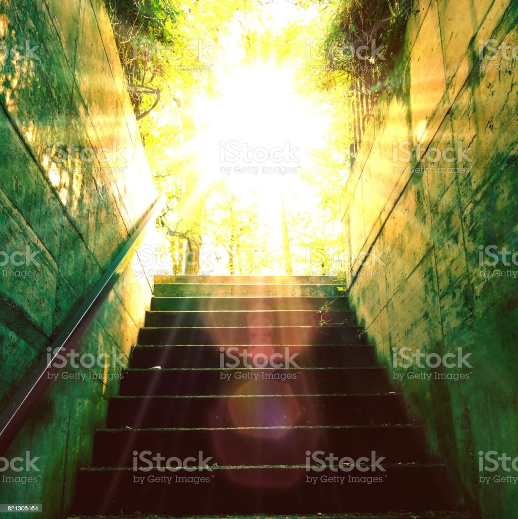 Stairs to the light stock photo