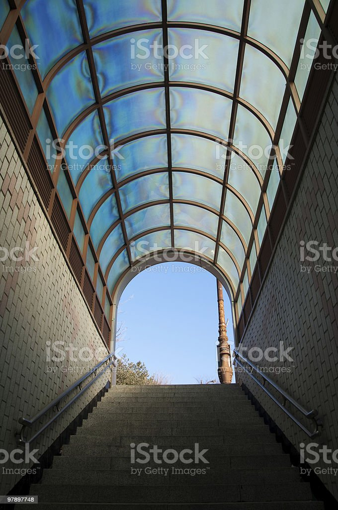 Stairs to the Outside World royalty-free stock photo