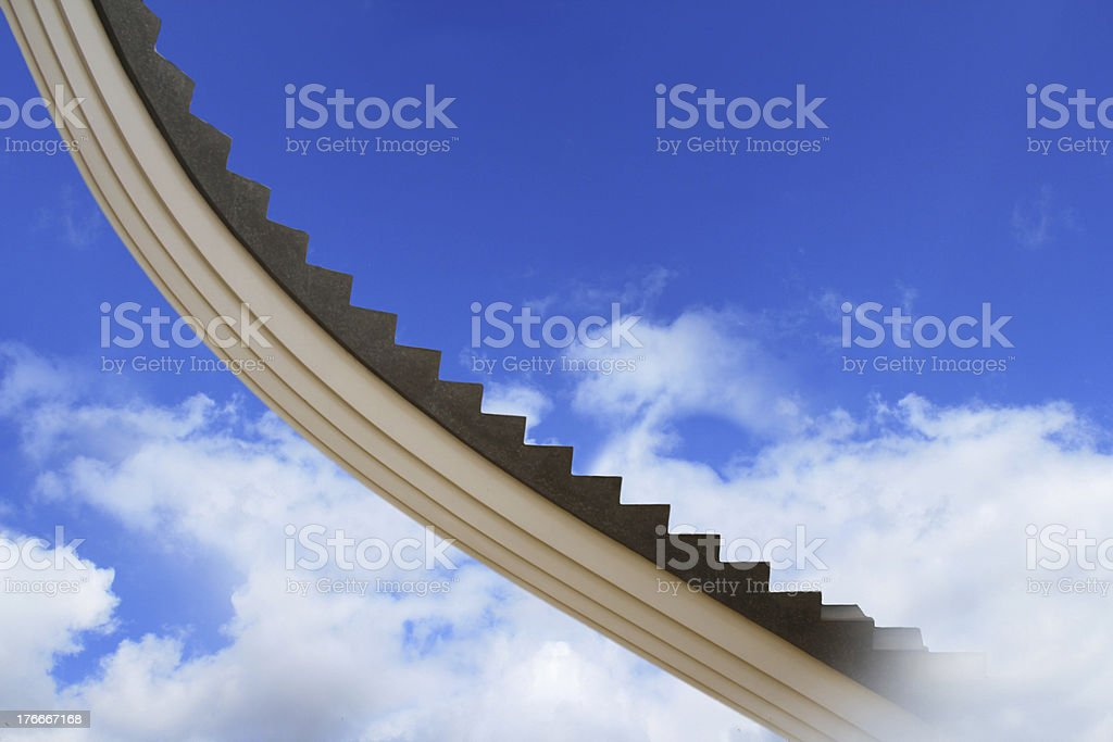 Stairs to the sky royalty-free stock photo