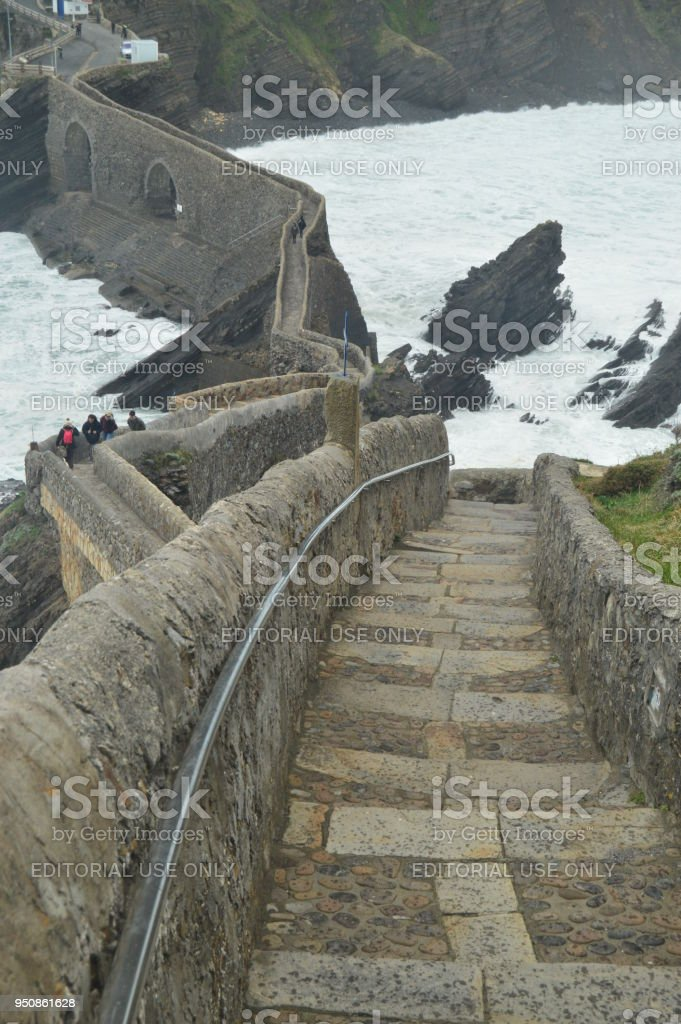 Stairs Views From Above In The Hermitage Of San Juan De Gaztelugatxe