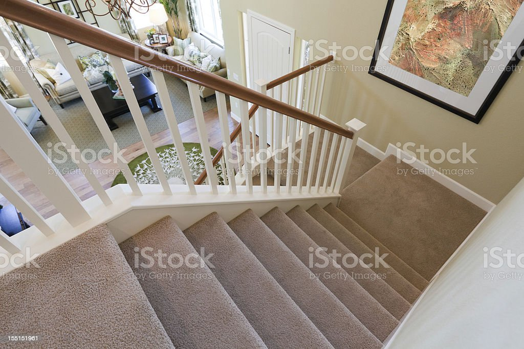 Stairs With Carpet Royalty Free Stock Photo