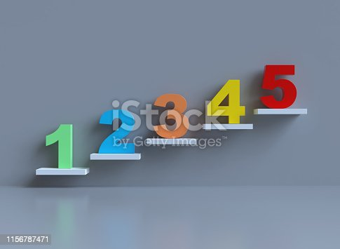 959023366istockphoto Stairs with numbers 1156787471