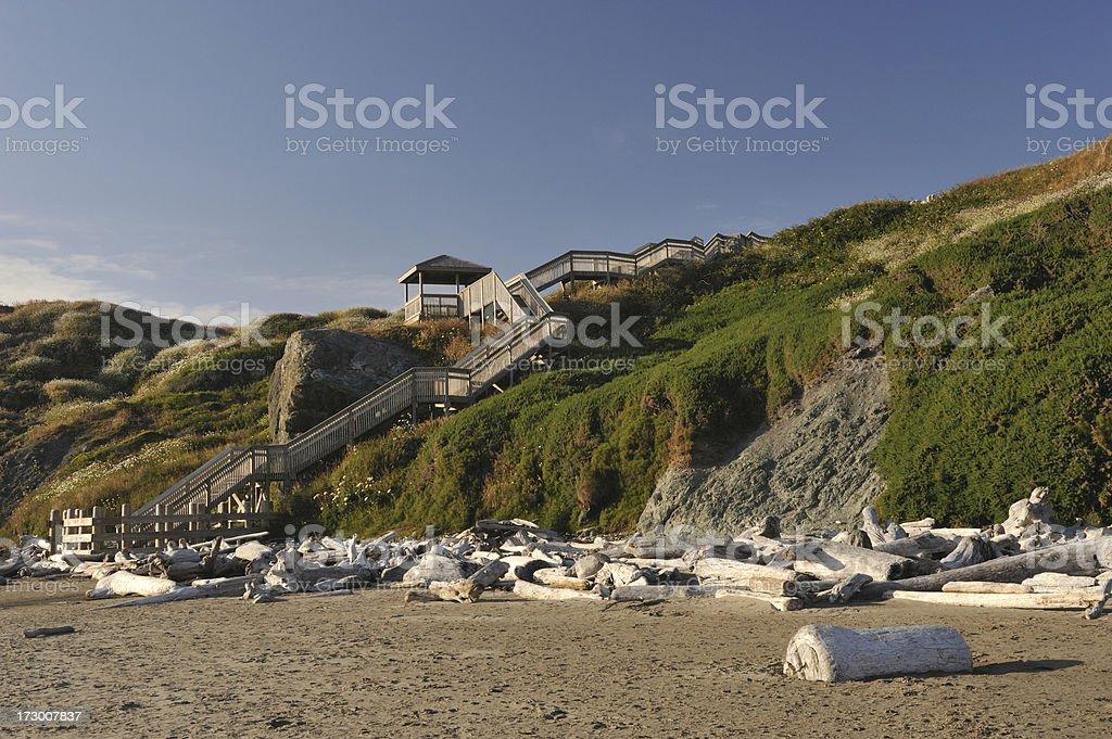 Stairwalk to Beach stock photo