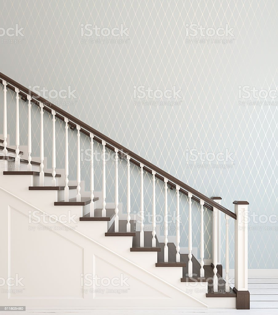 Stairway. 3d rendering. stock photo