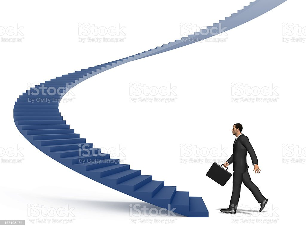 Stairway Concept I : Business Man royalty-free stock photo