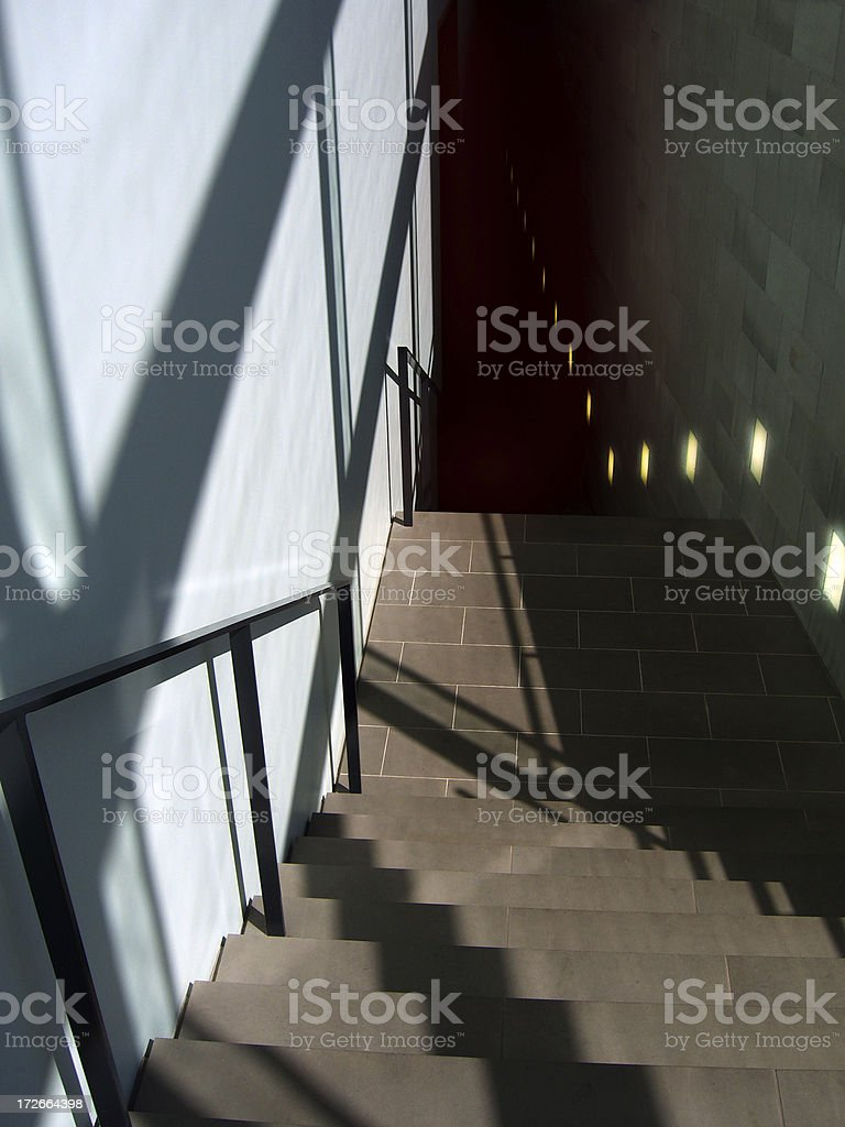 Stairway, downstairs royalty-free stock photo