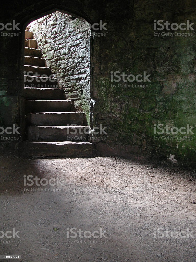 Stairway in Castle Cellar/Dungeon stock photo