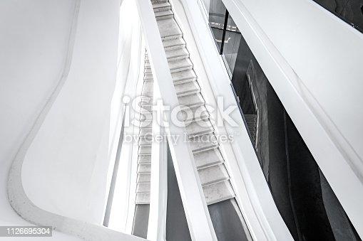 istock Stairway in modern architecture 1126695304